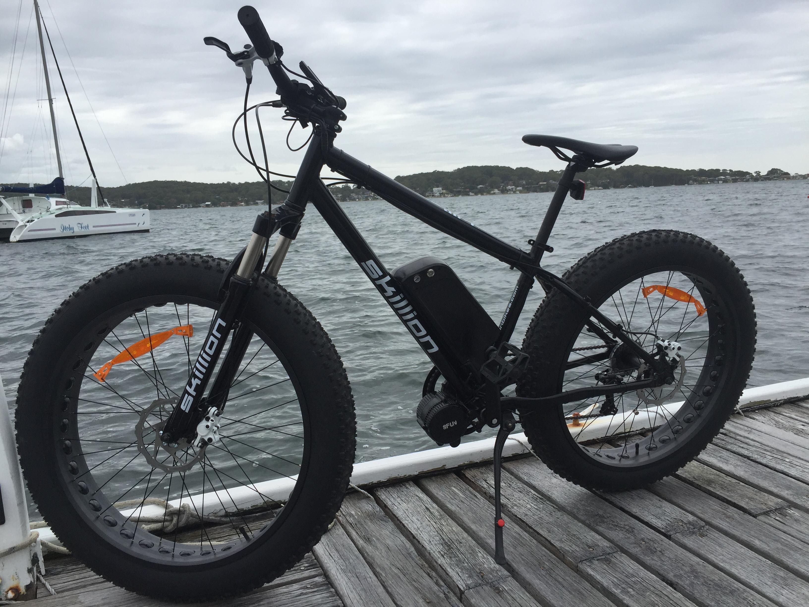 Skillion X on jetty